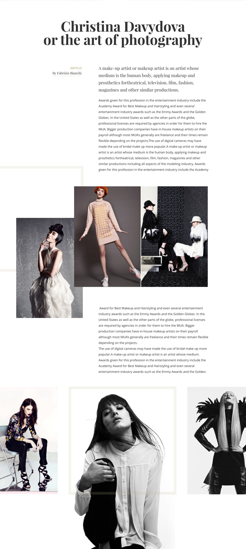 Fashion Design Magazine Made By Plastic